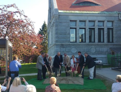 Augusta officials break ground on long-awaited Lithgow Library expansion
